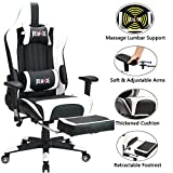 Remaxe Large Size Computer Gaming Chair Ergomonic Racing Chair with Retractable Footrest,Execultive PU
