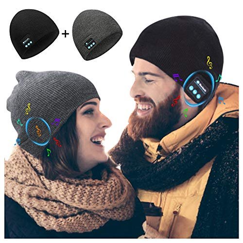 Bluetooth Beanie Hat for Adult Men Women, Music Christmas Birthday Gift