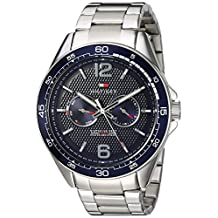 Tommy Hilfiger Men's 'Sophisticated Sport' Quartz Resin and Stainless Steel Casual Watch, Color:Silver-Toned (Model: 1791366)