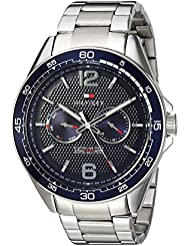 Tommy Hilfiger Mens Sophisticated Sport Quartz Resin and Stainless Steel Casual Watch, Color:Silver-Toned (...