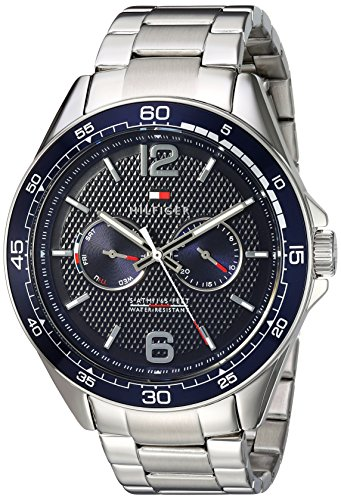Tommy Hilfiger Men's Sophisticated Sport Quartz Watch with Stainless-Steel Strap, Tone, 22 (Model: 1791366)