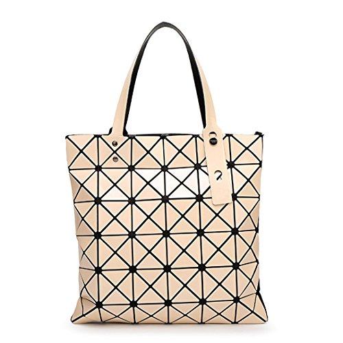 Bolso de tela escocesa geométrica doblada femenina Bolso de hombro informal de mujer bolsa de asas 6 * 6 12 11