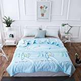 Uther Summer Thin Quilt Lightweight for Adults and Teens , Air Conditioning Cool Blanket Summer Thin Quilt Comforter ( Pea , Queen/full)