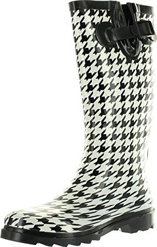 Womens Waterproof Many and Designs Footwear 7 Rainboots Fashion Static Colors Raindrops wF4URq6