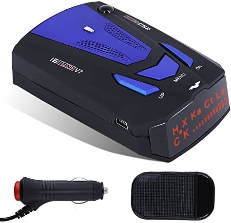 2021 Radar Detector for Cars, Laser Radar Detector,Voice Prompt Speed,LED Display,City/Highway Mode,Auto 360 Degree Detection for Cars