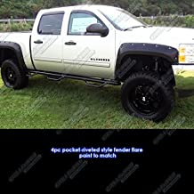 APS Reinforced ABS Fender Flares Riveted 4Pcs 07-13 Chevy Silverado 1500 5.8ft