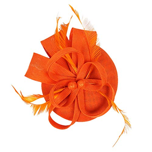 Weiliru Women's Fascinator Hat Imitation Feather Tea Party Flower Derby Decoration