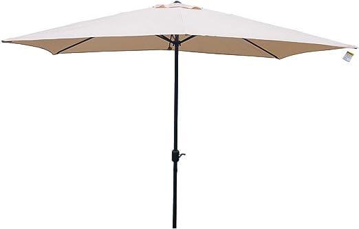 Orange Parasol 2.7m Umbrella Tilting Top Coated Steel Crank Mechanism