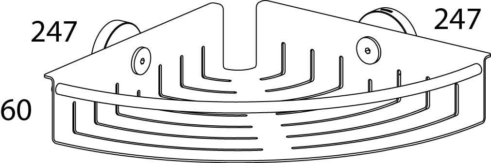 Acero Inoxidable Pulido 24,7x6x24,7 cm Tiger Boston Rinconera de Ducha