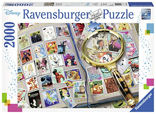 Ravensburger 16706 Disney Stamp Album - 2000 Piece Puzzle for Adults, Every Piece is Unique, Softclick Technology Means Pieces Fit Together Perfectly (Ravensburger Disney Puzzle)