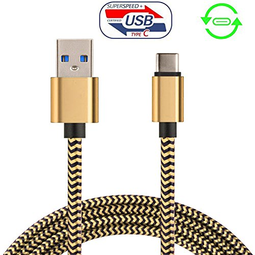 usb-type-c-30-cable-long-braided-gold-for-nintendo-switch-game-pad-tablet
