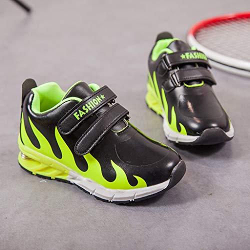 Mode Imprimées Running De À Enfant Unisexe Kukicat Chaussures La Outdoor Sport Sneakers Vert Flamme Chaussure Confortable Baskets OInwXvn8