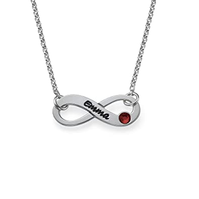 Swarovski Infinity Necklace with Engraving -Personalised with Any Name! sUiKrxhLRQ