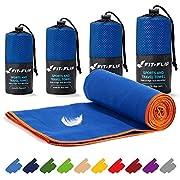 Fit-Flip Mikrofaser Handtuch Set – 16 Farben, viele Größen – Ultra leicht, kompakt, & schnelltrocknend – Microfaser…