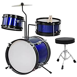 Cymbal Drum Sets : 3pc 8 kids drum set with cymbal drum blue musical instruments ~ Vivirlamusica.com Haus und Dekorationen