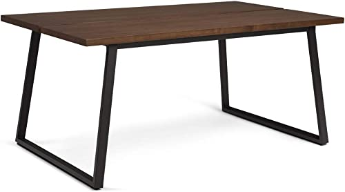 Simpli Home Adler SOLID WOOD and Metal 66 inch x 40 inch Rectangle Industrial Contemporary Dining Table