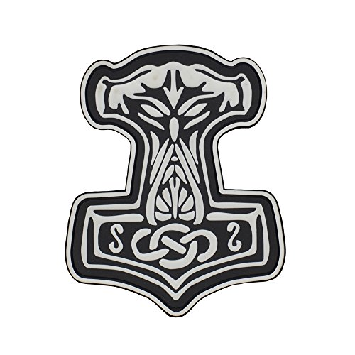 Mjolnir Viking 3D PVC Morale patches Military & Tactical Army Morale Patch (White) -