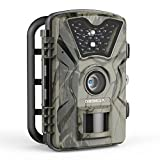 DinDinCam Trail Game Camera, 1080P HD 12MP 65ft Infrared Night Vision Hunting Mini Camera with 24LEDs, Motion Sensor, 0.5s Trigger Speed, IP66, 2.4 LCD Screen for Wildlife Surveillance, Home Security【Upgraded】