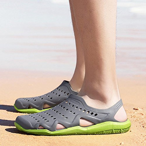 Clogs Slipper Light Swiftwater Hollow Summer Beach Kingfansion Wave Men's Holiday Gray Shoes Men Sandals for wTtnBxSCqO