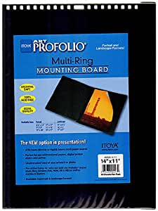x 11 in Itoya Multi-Ring Mounting Boards 14 in horizontal pack of 10