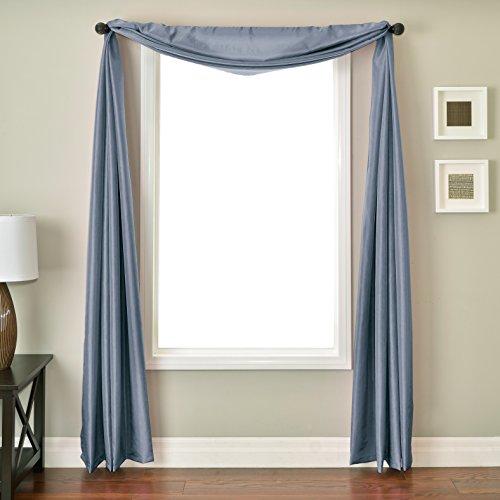 Softline Home Fashions NETHfdbluSC Bella 6 Yard Window Scarf Federal Blue
