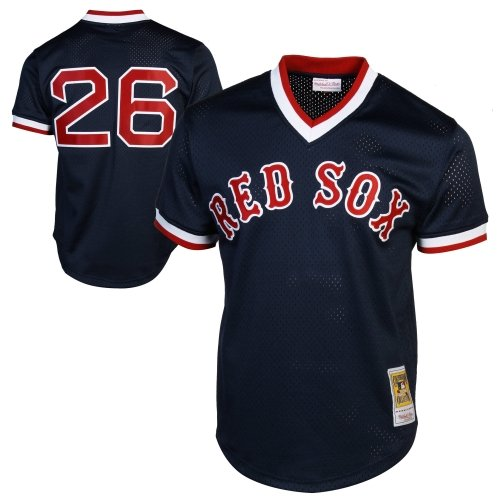Wade Boggs Boston Red Sox Mitchell and Ness Men's Navy Throwback Jersey 3X-Large ()