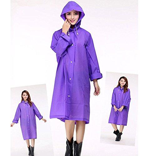 Size Vêtements Costume One Transparent Camping De Épaissie Pluie Imperméable Manteau Blue Femmes Clair Mode qxOwva7zq
