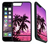 img - for [TeleSkins] - iPhone 7 Plus Rubber Designer Case -Tropical Palm Trees Sunset Beach - Ultra Durable Slim Fit, Protective Plastic with Soft RUBBER TPU Snap On Back Case / Cover. Fits (5.5 inch only) book / textbook / text book