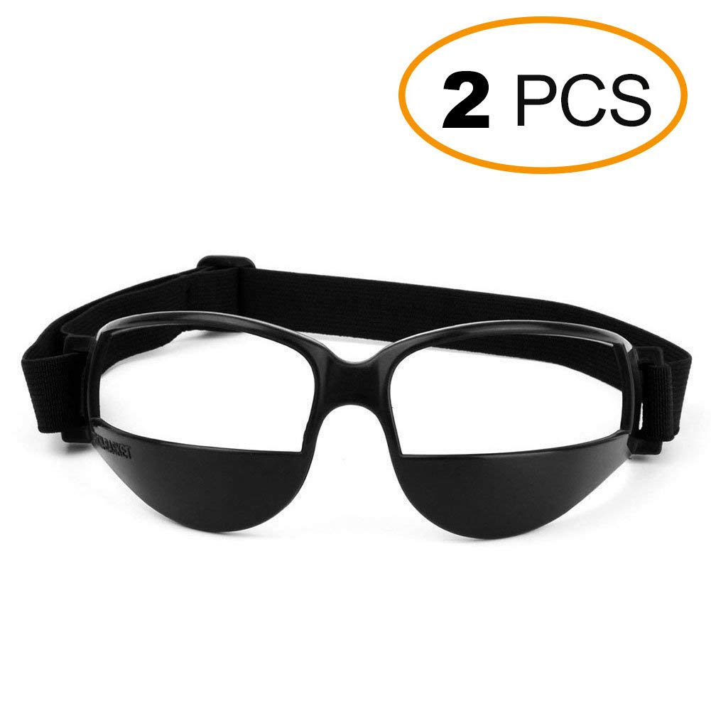 EMPHY 2 Packs Sports Dribble Goggles for Basketball Training Aid - Great for Improve Dribbling Skill, Handling Skills, Black (2 Packs)