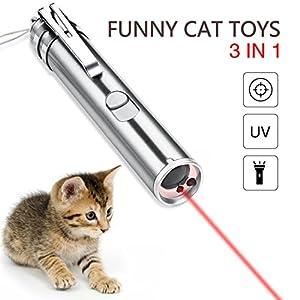 YAMI Juguetes para Gatos Cat Juguetes interactivos para Gatos 3 en 1 Juguetes Divertidos para Gatos con USB cargable