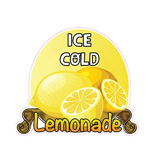 Ice Cold Lemonade Concession Restaurant Die-Cut Window Static Cling 10 inches Inside Glass