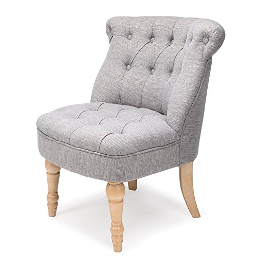 Finnhomy Casual Accent Chair with Button Tufts-Upholstered Living Room Bedroom Side Chiar,Gray - Upholstered Accent Chair