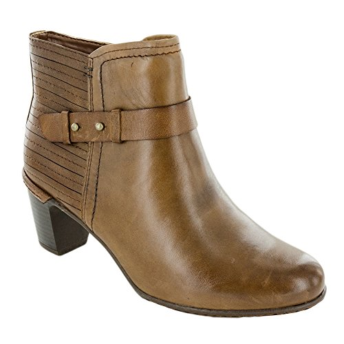 Rockport Leather Clogs - Rockport Cobb Hill Collection Women's Cobb Hill Rashel Buckle Boot Almond Leather 7 B US