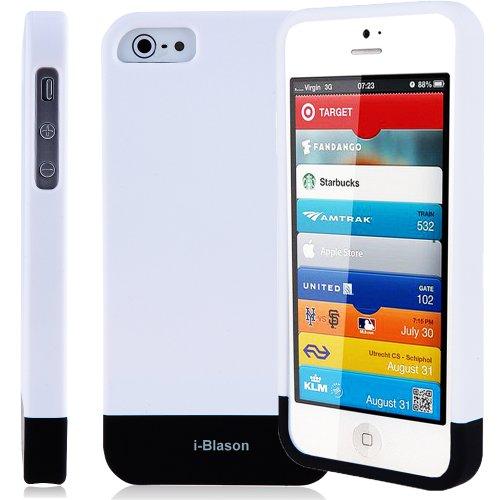 i-Blason Glider Series Slider Case Slide Case for Apple New iPhone 5 4G LTE (AT&T, Sprint, & Verizon compatible) (White)