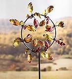 Outdoor Fall Leaves Jubilee Garden Wind Spinner, 28 W x 9.5 D x 63 H