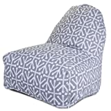 Majestic Home Goods Kick-It Chair, Aruba, Gray