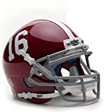 Alabama Crimson Tide #16 Schutt Authentic Mini Helmet