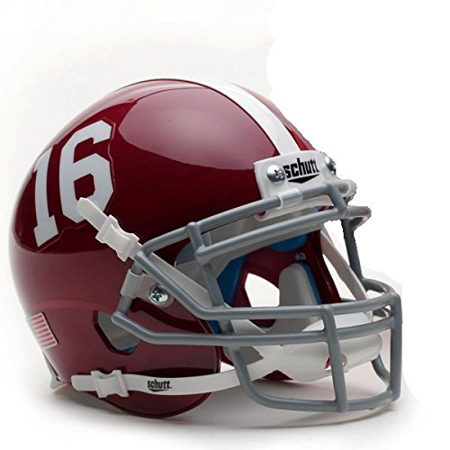 Alabama Mini Helmet (Alabama Crimson Tide #16 Schutt Authentic Mini Helmet)