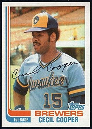 detaillierte Bilder großer Verkauf große sorten Amazon.com: Baseball MLB 1982 Topps #675 Cecil Cooper #675 ...
