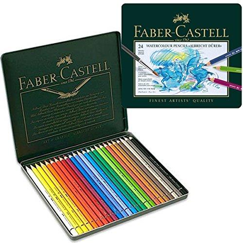 Faber-Castel FC117524 Albrecht Durer Artist Watercolor Pencils in A Tin (24 Pack), -