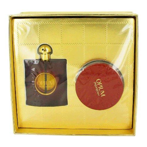 OPIUM by Yves Saint Laurent - Women - Gift Set -- 3 oz Eau De Parfum Spray + 6.7 oz (Opium Bath)
