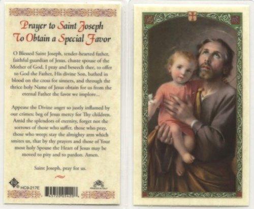 St. Joseph - Prayer to Obtain a Special Favor Holy Card (HC9-217E) - (Favor Prayer Card)
