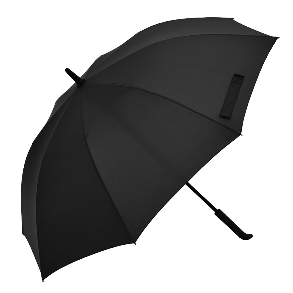 Commercial Portable Long Handle Umbrella Fashion IT Style Gentleman Bumbershoot Dual Purpose With Cover (Color : Black)