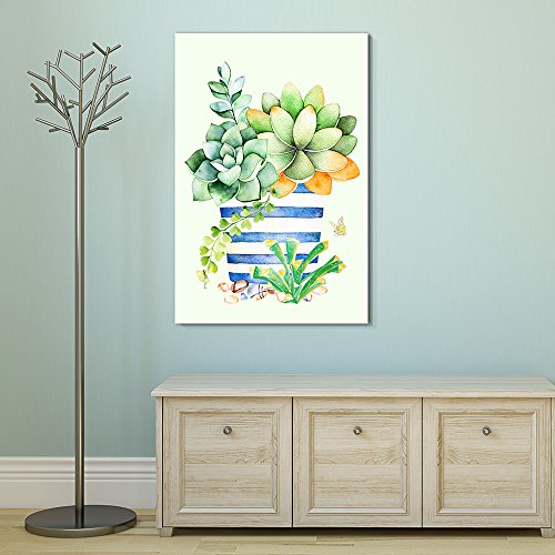 Succulent Plants Series Watercolor Style Plants in a Pot Gallery