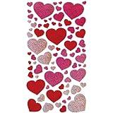 Sticko 52-00067 Blissful Hearts Metallic Stickers