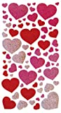 Sticko 52-00067 Blissful Hearts Metallic Stickers