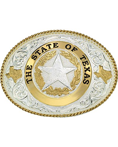 Montana Silversmiths Men's State Of Texas Star Seal Western Belt Buckle Multi One Size
