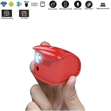 BTSSA El Mini proyector HD de 7 cm, el proyector inalámbrico WiFi ...