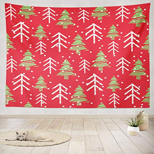 ASOCO Tapestry Wall Handing Christmas Christmas Red Green