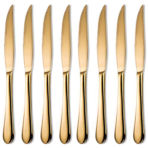 Steak Knife Sets,8-pieces,Gold